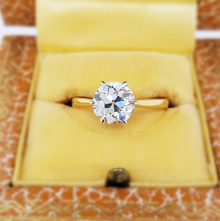 2.01ct Old European Cut Diamond in Stuller Solitaire
