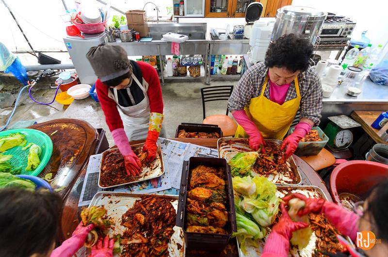 The kimchi-making veterans