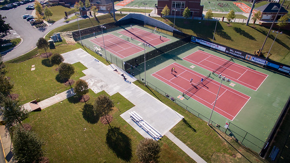 Tennis Courts Landscaping October 2015