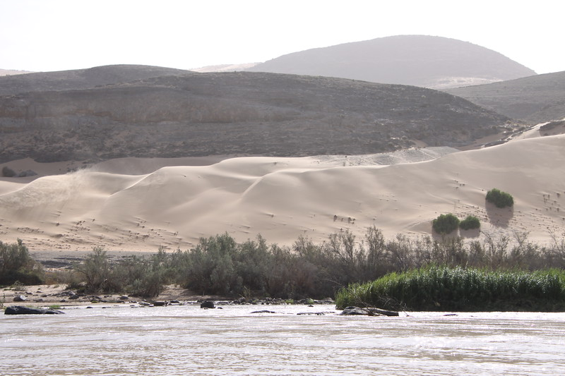 View from our room of dunes at Kunene River