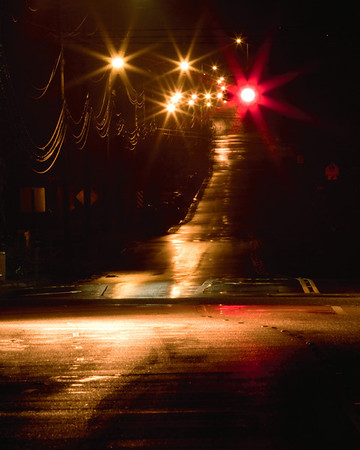 Wet roads and Red lights