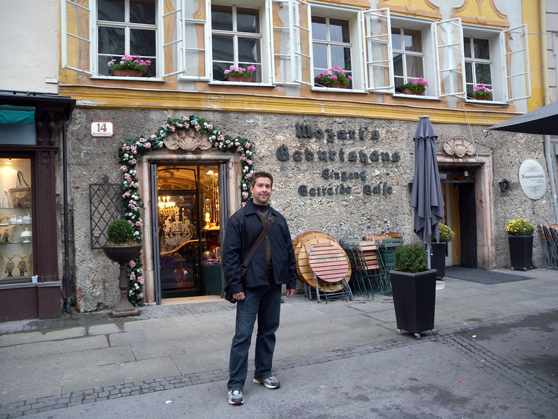 Mozart's birthplace - it's just a cafe now.