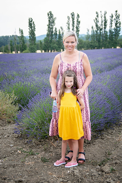 Darcy and Colbie in the lavender