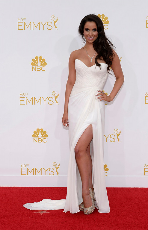 . Syd Wilder on the red carpet at the 66th Primetime Emmy Awards show at the Nokia Theatre in Los Angeles, California on Monday August 25, 2014. (Photo by John McCoy / Los Angeles Daily News)