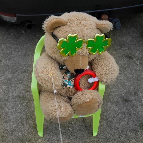 Close-up of a teddy bear, Keel, County Mayo, Republic of Ireland