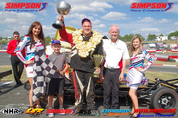 BriSCA V8 Hot Stox Simpson Race Exhausts 2018 Incarace Gold Cup