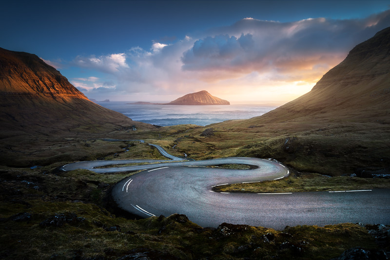 Nordradalur 2 Sunset road faroe islands landscape photography_1.jpg