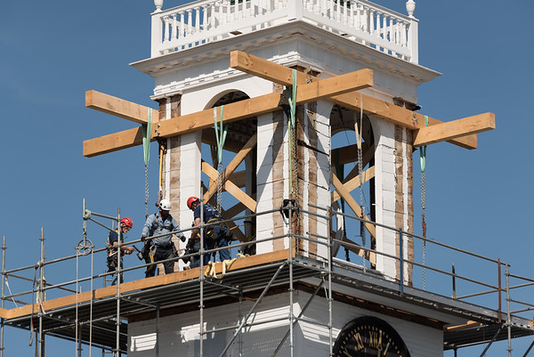 East Derry Congregational Steeple Removal