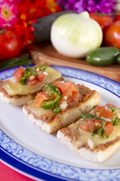 Molletes Mexican Dish