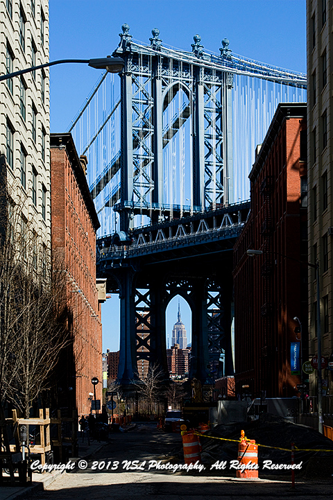 Dumbo area of Brooklyn looking toward Manhattan, photo by NSL Photography