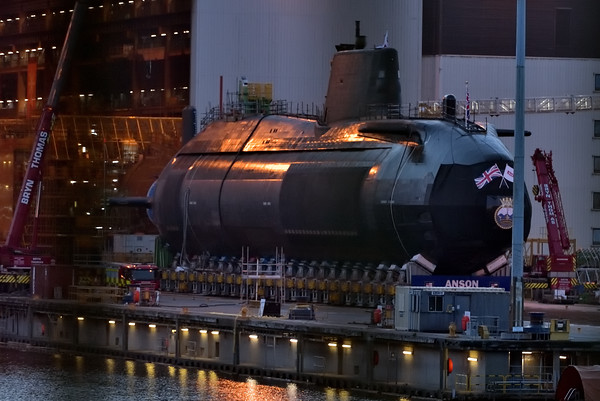 Anson the fifth of seven Astute-class attack submarines