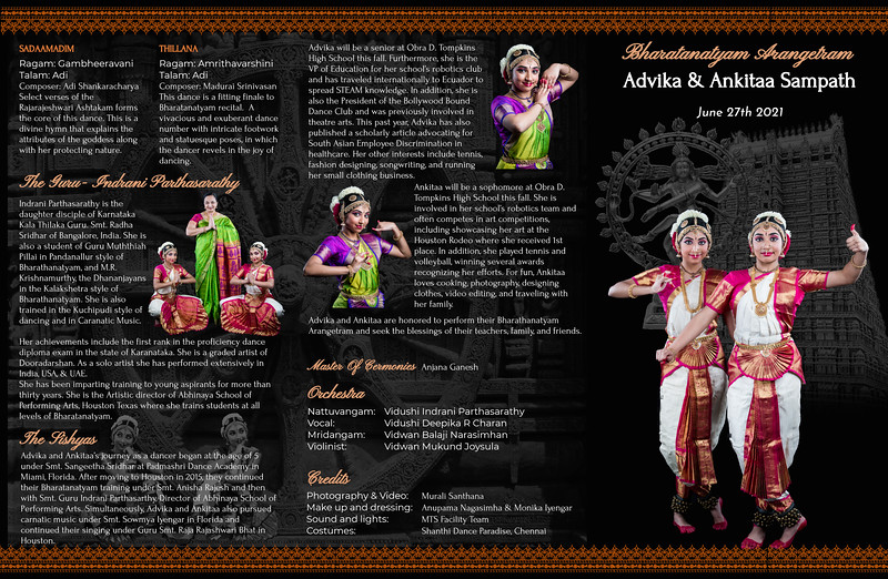 Advika & Ankitaa's Bharatanatyam Arangetram 2021 - Highlights