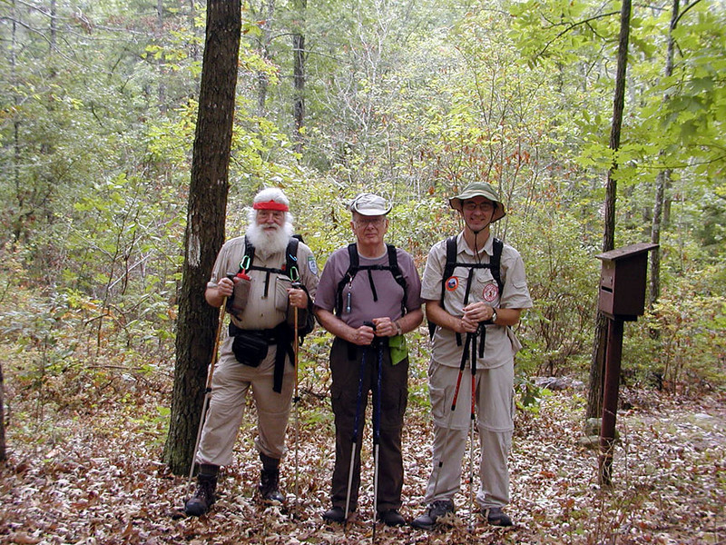 Pete, Hicks, Richard --the men of T.T.A Newby Camp, Piney River Trail, TN 9/13/08