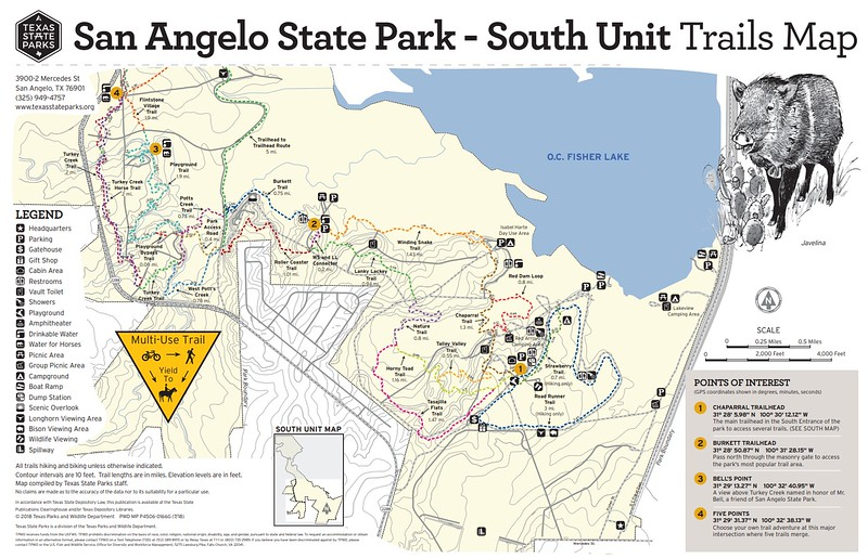 San Angelo State Park (South Unit Trails)