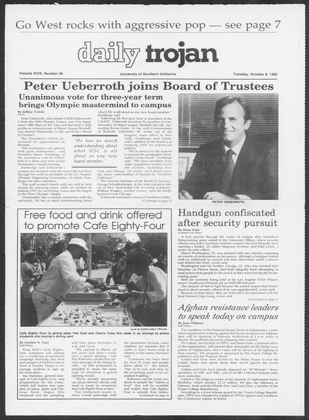Daily Trojan, Vol. 100, No. 26, October 08, 1985