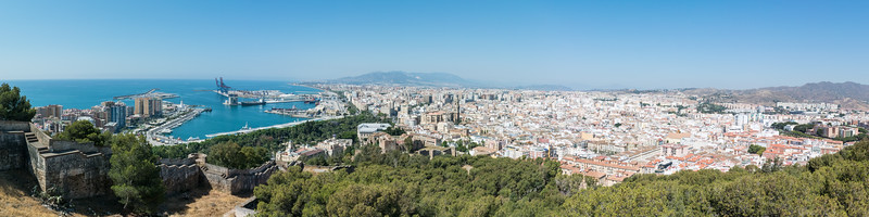 View from highest point in Malaga