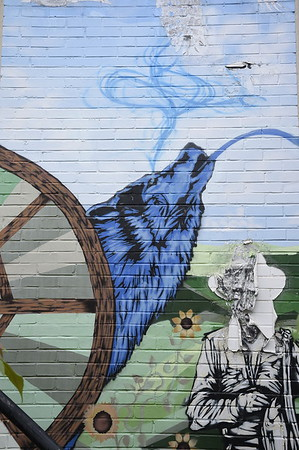 Black Science Mural Wolfhead