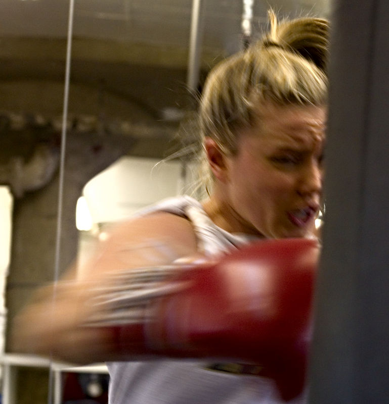 Brittany on the Heavy Bag