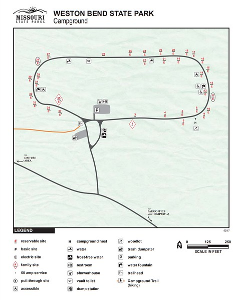 Weston Bend State Park (Campground Map)