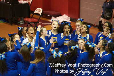 10-27-2018 Gaithersburg High School at MCPS D2 Cheerleading Championship at Montgomery Blair High School, Photos by Jeffrey Vogt Photography
