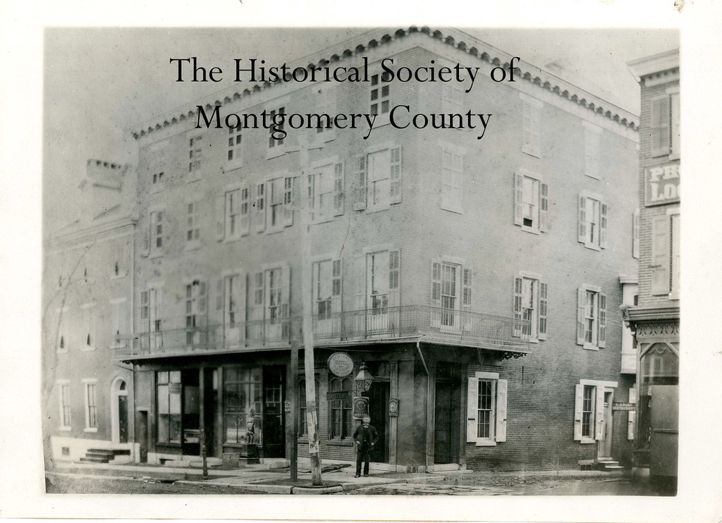 . This photo from the Historical Society of Montgomery County shows the Windsor Hotel in Norristown in the late 19th century.