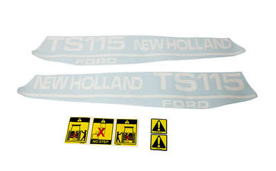 FORD NEW HOLLAND TS 115 SERIES BONNET DECAL SET