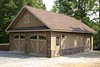 New 3 car dettached garage incorporates the character of both the barn and estate which it is positioned between.