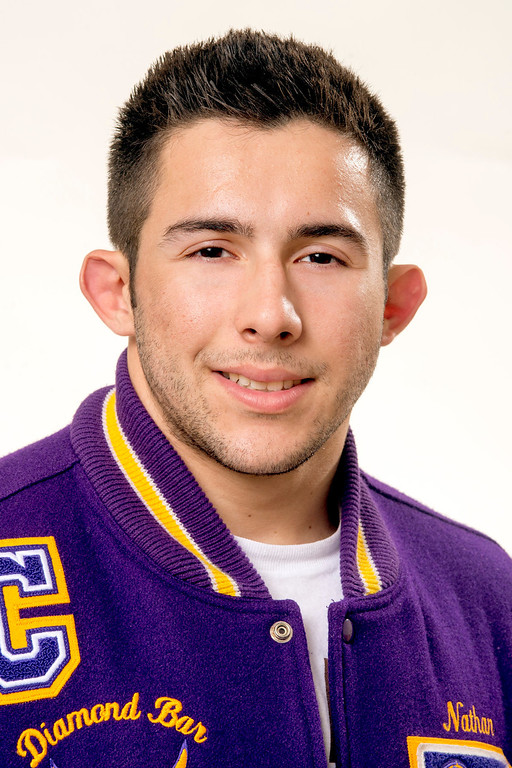 . Diamond Bar High wrestler Nathan Rodriguez has been selected for the SGV Tribune\'s All-area Team March 25, 2013.  (SGVN/Staff photo by Leo Jarzomb)