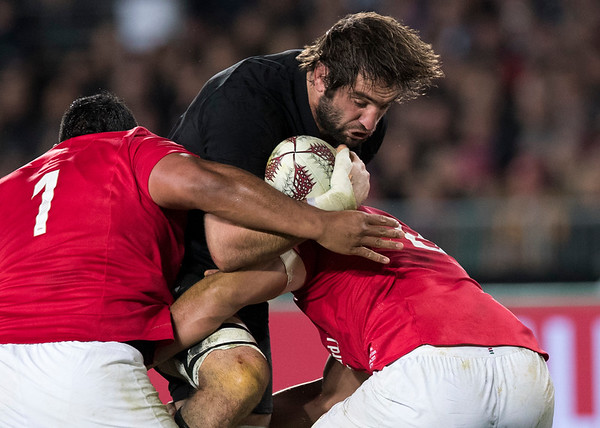 Sam Whitelock during game 7 of the British and Irish Lions 2017 Tour of New Zealand, the first Test match between  The All Blacks and British and Irish Lions, Eden Park, Auckland, Saturday 24th June 2017 (Photo by Kevin Booth Steve Haag Sports)  Images for social media must have consent from Steve Haag
