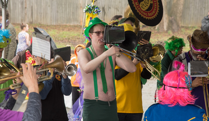 Even though it was slightly cold and very rainy, playing for the crowds at The Imperial just makes a statement about how folks love Mardi Gras celebrations.