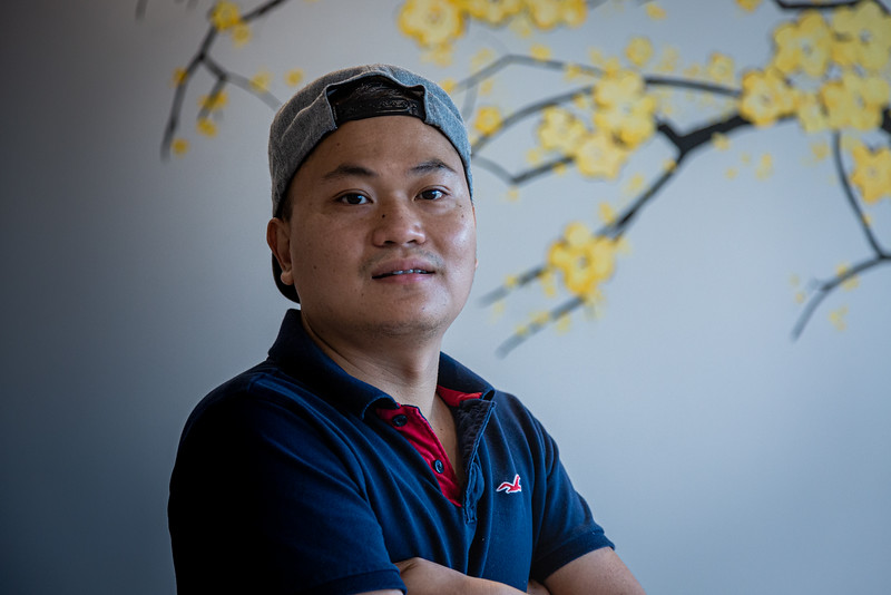 """Phillip Cao, 32, runs the family owned restaurant Pho & Rolls, a new Vietnamese restaurant located at 901 W. Indiantown Road in Jupiter, Wednesday, July 29, 2020. """"I always had a dream of opening a restaurant in America,"""" Cao said. [JOSEPH FORZANO/palmbeachpost.com]"""