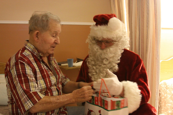 Santa comes to Erwin Health Care