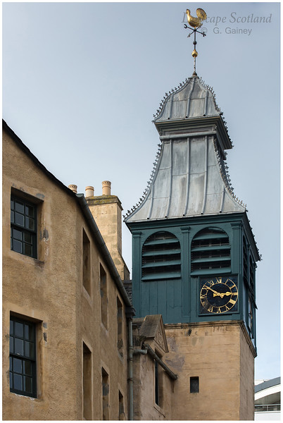 Weater vane and clock tower, Sandport, Leith