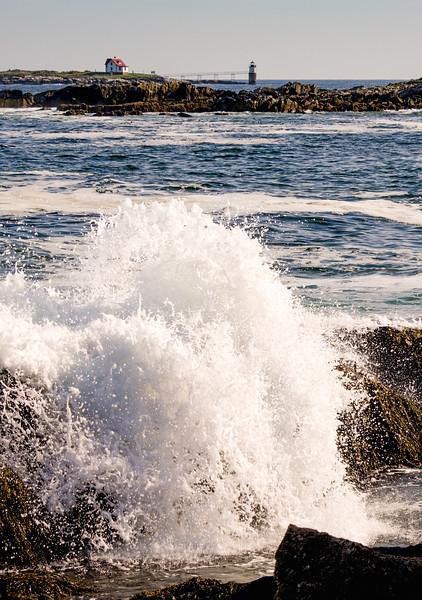 Crashing Wave and Ram Island Light, East Boothbay, Maine (13012)