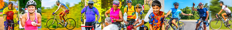 Colorful Cyclists -- Non-White Bikers