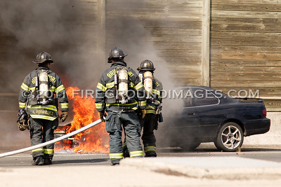 I-95 Car Fire (Bridgeport, CT) 8/4/11