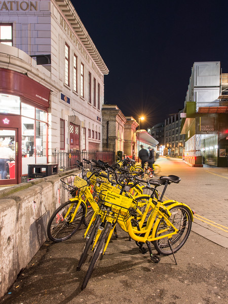 Dockless hire bikes in London