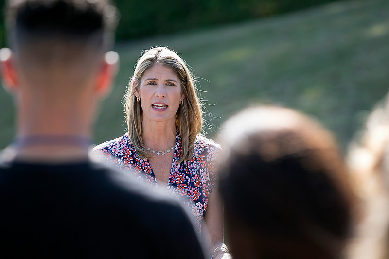 Congresswoman Lori Trahan visited Montachusett Opportunity Council Inc. (MOC) on Thursday, August 29, 2019. Trahan addresses the MOC and Headwall employees during her visit. SENTINEL & ENTERPRISE/JOHN LOVE