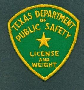 TX DPS License & Weight