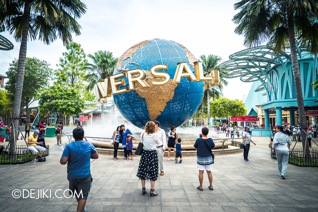 Universal Studios Singapore - Park Update May 2016 / Entrance Globe