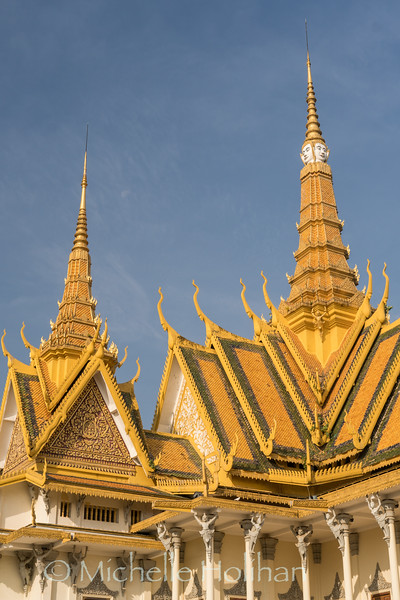 PHNOM PENH, CAMBODIA - JANUARY 25, 2019: Exterior of the Royal Palace.