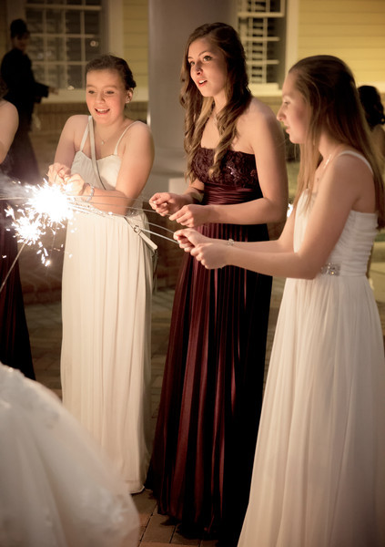 Bridesmaid and flower girls with sparklers.jpg