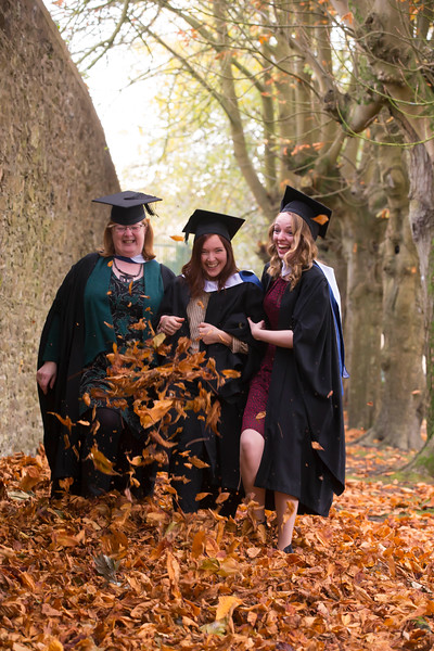 02/11/2018. Waterford Institute of Technology (WIT) Conferring Ceremonies 2018. Pictured are Elizabeth McGinley Santry, Sofie Gustafsson Donabate, Ellen Stynes Dublin. Picture: Patrick Browne