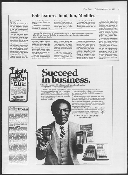 Daily Trojan, Vol. 91, No. 13, September 18, 1981
