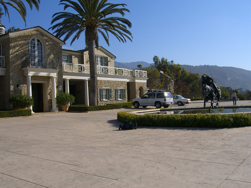 This is another shot of the horse stable, Bella Vista Ranch, Montecito.