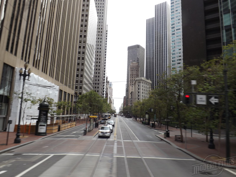 Looking west down Market, from 1st and Battery Streets.