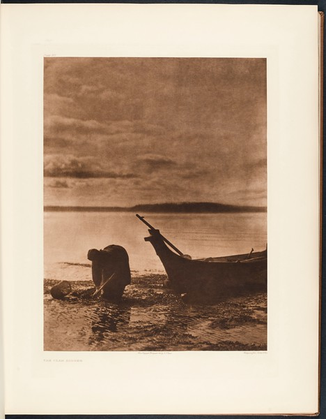 The North American Indian, vol. 9 suppl., pl. 317. The clam digger