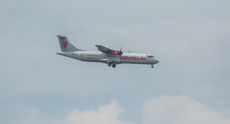 Malindo Air ATR72-600 9M-LMM as OD1410 approaching Langkawi LGK WMKL.