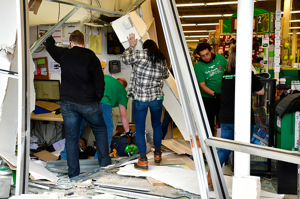 11/28/2018 Mike Orazzi   Staff The scene at the Pet Supplies Plus on Farmington Avenue after the driver of a Subaru Outback drove through the storefront in Bristol Wednesday narrowly missing cashiers at their registers. No injuries were reported.