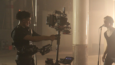Warehouse music video shoot with Red Epic